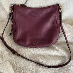 Kate Spade Burgundy Crossbody Bag